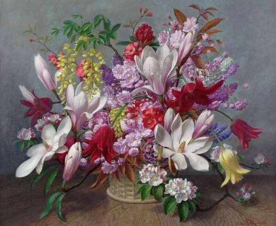 Картина по номерам 40x50 Нежное благоухание цветов