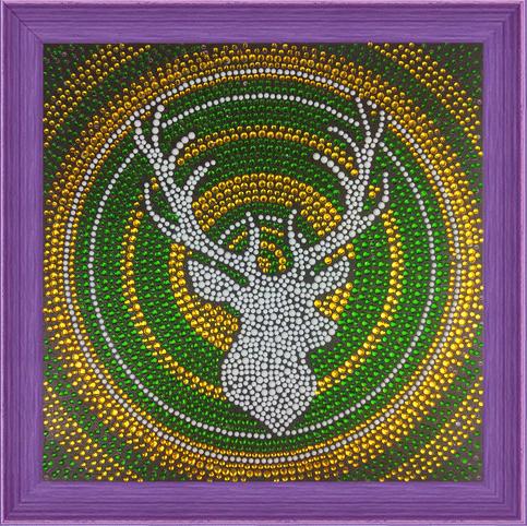 Алмазная мозаика 30x30 Силуэт благородного оленя